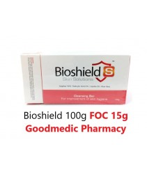 Bioshield Cleansing Bar for Acne, Fungal & Body Odour 100g FOC 15g