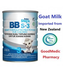 BB S-3 Goat Milk For Children ( 1-3 years old ) Halal 900g Susu Kambing (Product of New Zealand)
