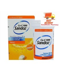 Ca-C 1000 Sandoz Vitamin C 1000mg + Calcium Effferversent 10s (Made in France)