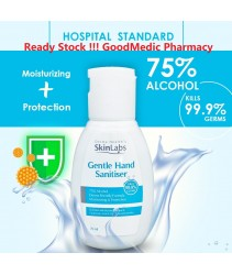 Derma Health's SkinLabs Gel Gentle Hand Sanitizer 70ml - 75 % Alcohol , Kills 99.9% Germs, Moisturizing Ready Stock