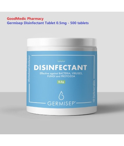 Germisep Effervescent Disinfectant Cleaning Tablets 2.5g 100 tablets / 0.5 mg  500 tablets Ready stock -Alternative to Dettol