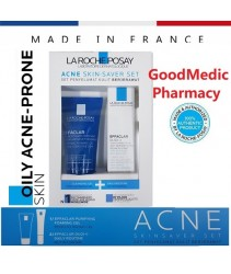 La Roche Posay Effaclar Acne Skin Saver Set (Effaclar Puryfying Foaming Gel 50ml + Effaclar Duo+ 15ml)