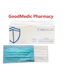 Medicos Surgical Face Mask  BFE >98% 20 pieces
