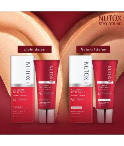 Nutox CC Cream SPF50 PA+++ Light Beige / Natural Beige 30ml