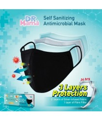 Dr Mama Fabric Mask Washable Anti-microbial Adult / Kids Reusable Face Mask Extender Self Sanitizing DrMama