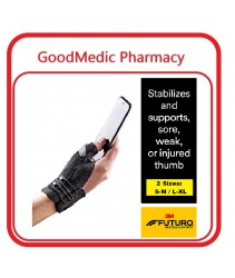 3M Futuro Adjustable Thumb Deluxe Stabilizer 45843 [Pain due to overusing thumb, arthritis and injury)