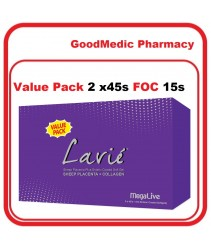 MegaLive Lavie® Sheep Placenta Plus Collagen Enteric Coated Softgel 2X45s FOC 15s