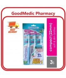 Systema Toothbrush Compact 22mm 2+1 (Japan Brand)