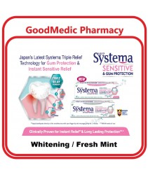 Systema Sensitive Toothpaste for Sensitive Teeth & Gum (Instant & Lasting Relief) Whitening/Fresh Mint 100g