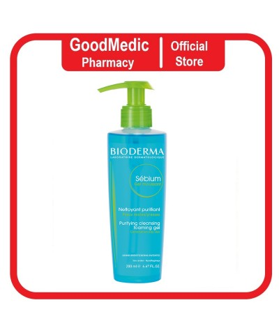 Bioderma Sebium Gel moussant 200ml Gentle Purifying Soap-Free Foaming Gel (Facial Cleanser for Oily to Acne-Prone Skin)