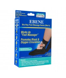 Ebene Bio-Ray Foot Massage Socks Men's Black Long 1 Pair