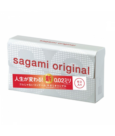 Sagami Original 0.02 Non-latex Condom (6 Pcs)