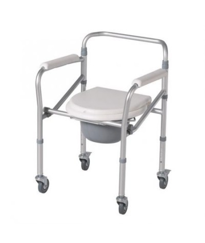 Esco Adjustable &  Foldable Commode Chair (Steel)