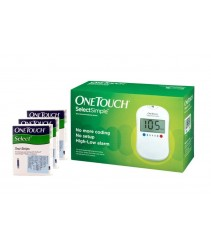 One Touch Select Simple Blood Glucose Monitoring System (Free 75 Test strips)