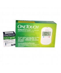 One Touch Select Simple Blood Glucose Monitoring System (Free 25 Test strips)
