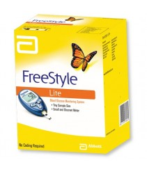 Abbott FreeStyle Freedom Lite Blood Glucose Monitoring System with 50 strips (LIFETIME WARRANTY)