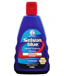 Selsun Blue Dandruff Treatment Shampoo Medicated with Menthol (120ml)