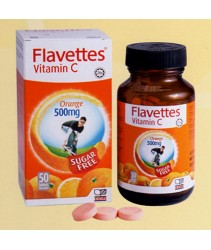 Flavettes Sugarfree Vitamin C 500Mg 50T