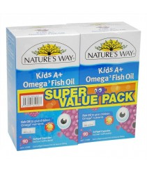 Nature's Way Kids A+ Omega Fish Oil 90s+90s