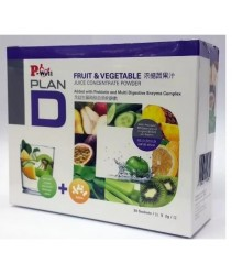 P-Well Plan D Fruit & Vegetable Juice Concentrate Powder (30 sachets)