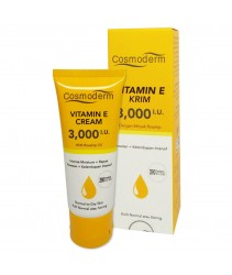 Cosmoderm Vitamin E Cream 3,000 I.U with Rosehip Oil 50ml ( Intense Moisture + Repair)