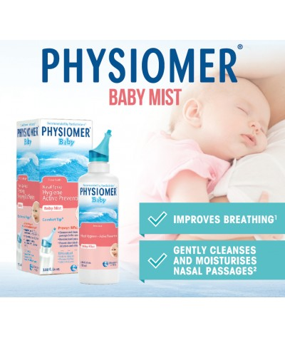 Physiomer Baby Mist Nasal Spray Hygiene Active Prevention 115ml