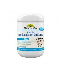 Nature's Way Kids A+ Milk Calcium Buttons with DHA 150's