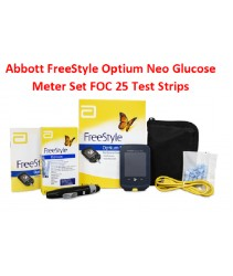 Abbot Freestyle Optium Neo Blood Glucose and Ketone Meter 10 test strips