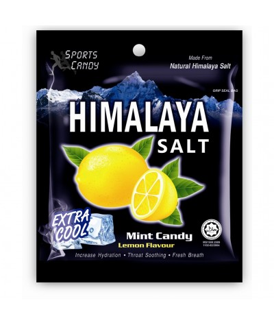 Himalaya Salt Sports Candy – Extra Cool Lemon 12x15g