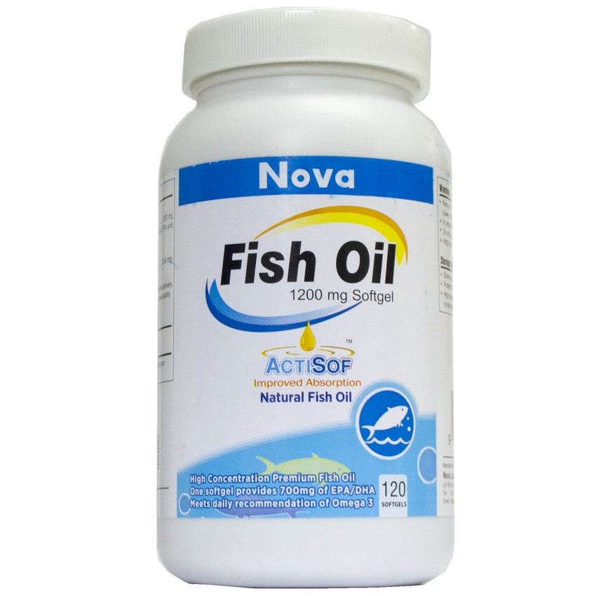 Nova fish oil 1200mg softgel 120s for What does fish oil do