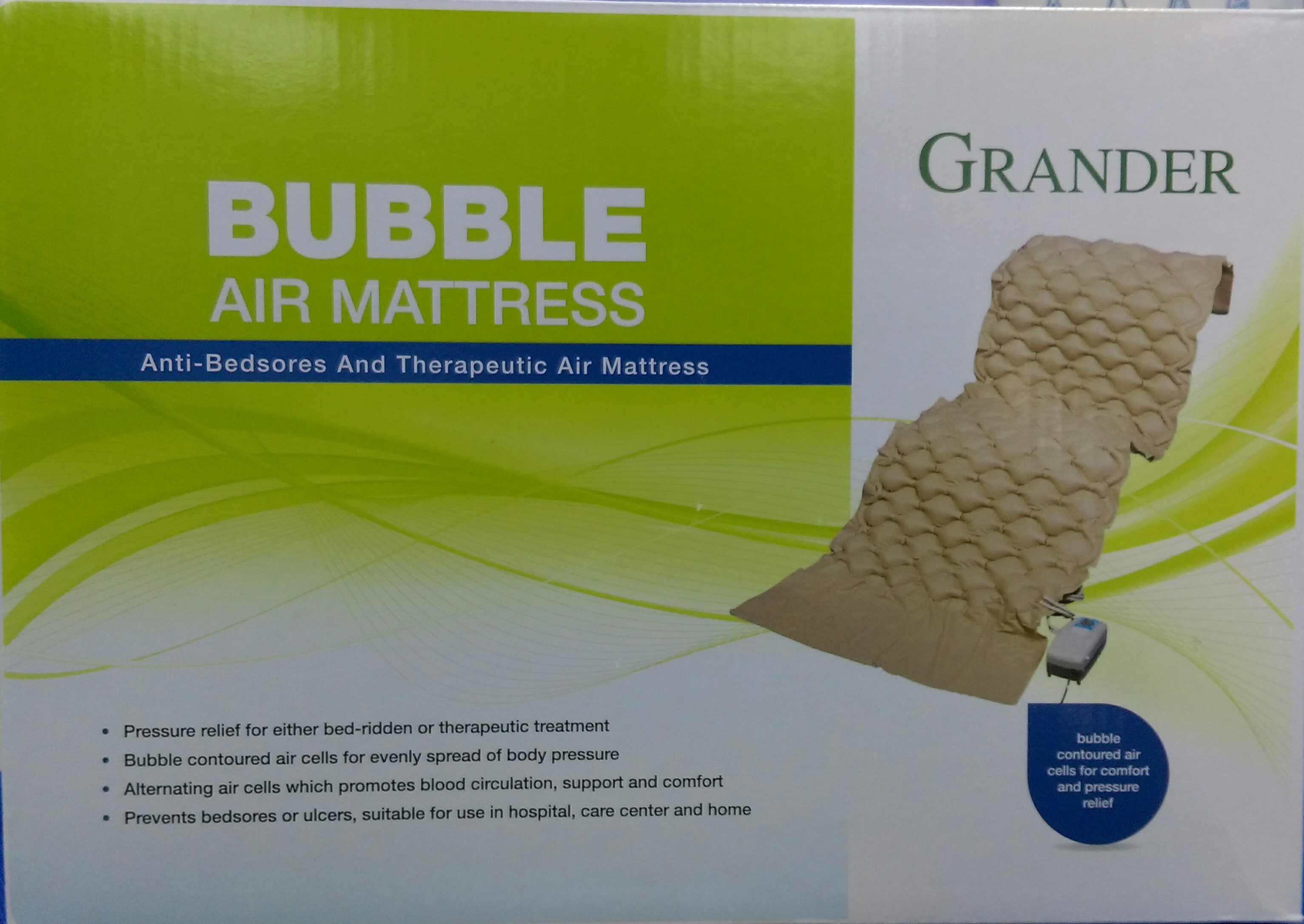 grander bubble air mattress and therapeutic air mattress