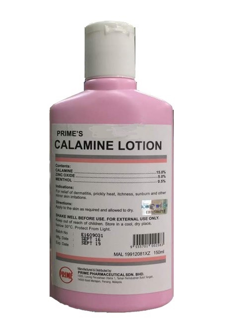 Prime S Calamine Lotion 150mlfor Relief Of Dermatitis
